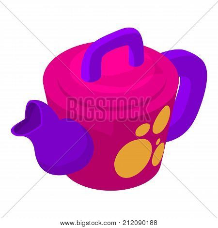 Kettle girl icon. Isometric illustration of kettle girl vector icon for web