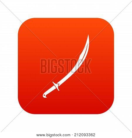 Cutlass icon digital red for any design isolated on white vector illustration
