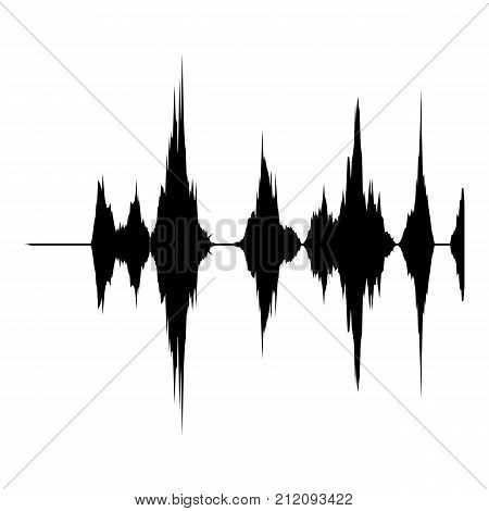 Audio equalizer record icon. Simple illustration of audio equalizer record vector icon for web