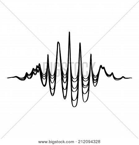 Audio equalizer soundwave icon. Simple illustration of audio equalizer soundwave vector icon for web