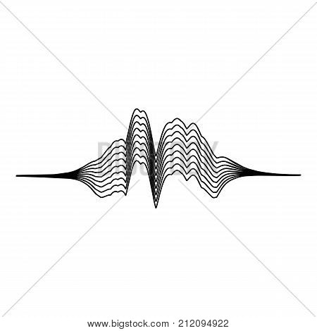 Audio equalizer melody icon. Simple illustration of audio equalizer melody vector icon for web