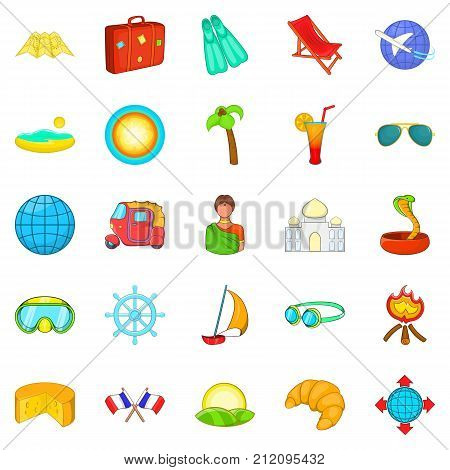 Country of the third world icons set. Cartoon set of 25 country of the third world vector icons for web isolated on white background