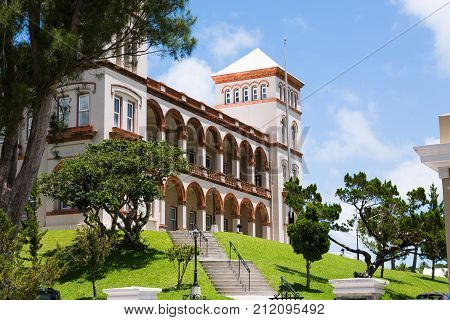 Hamilton Bermuda Sessions House and Clock Tower