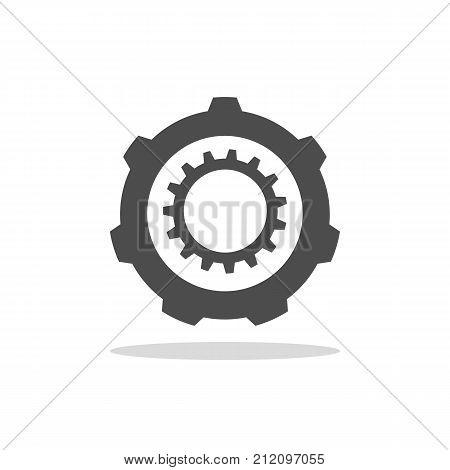 Double cogwheel. Mechanical element illustration for design