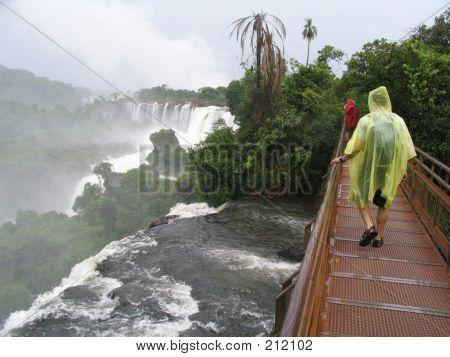 Tourist In Iguazu Falls