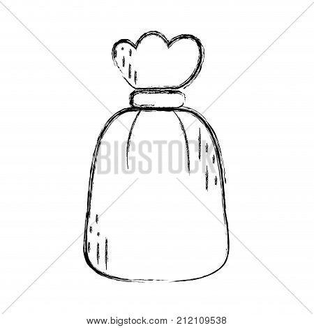 figure garbage bag object with biodegradable trash vector illustration