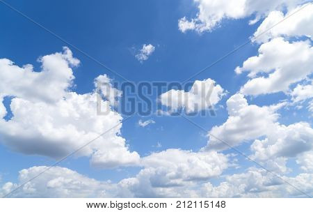 cloudscape and blue sky for backgrounds in summer poster