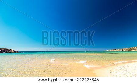 The Beach Of Chia Su Giudeu, Sardinia