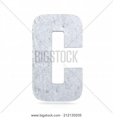 3D Decorative Concrete Alphabet, Capital Letter C