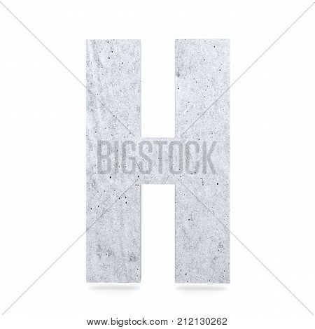 3D Decorative Concrete Alphabet, Capital Letter H