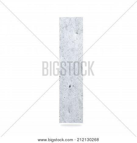 3D Decorative Concrete Alphabet, Capital Letter I