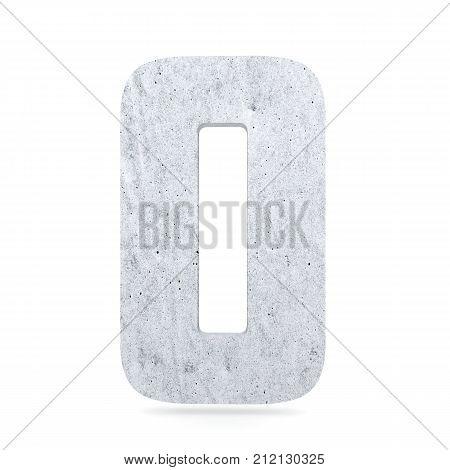 3D Decorative Concrete Alphabet, Capital Letter O