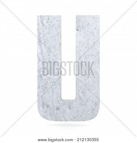 3D Decorative Concrete Alphabet, Capital Letter U