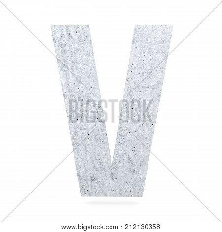 3D Decorative Concrete Alphabet, Capital Letter V