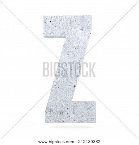 3D Decorative Concrete Alphabet, Capital Letter Z