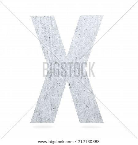 3D Decorative Concrete Alphabet, Capital Letter X