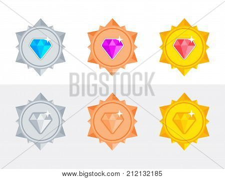 1st, achievement, award, badge, brilliant, bronze, celebration, certificate, champion, championship, circle, collection, competition, design, diamond, diploma, element, emblem, first, flat, game, gold, golden, icon, illustration, isolated, label, medal, p