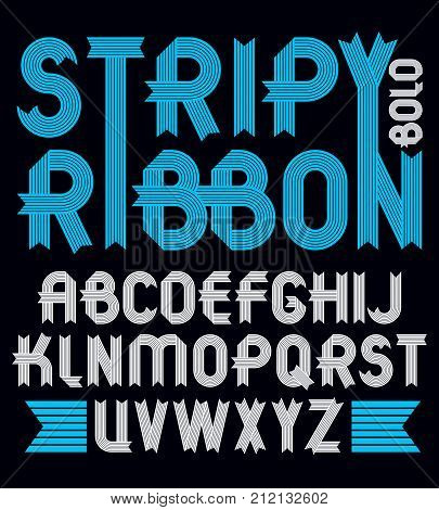 Set Of Trendy Vector Capital Alphabet Letters Isolated. Geometric Bold Type Font, Script From A To Z