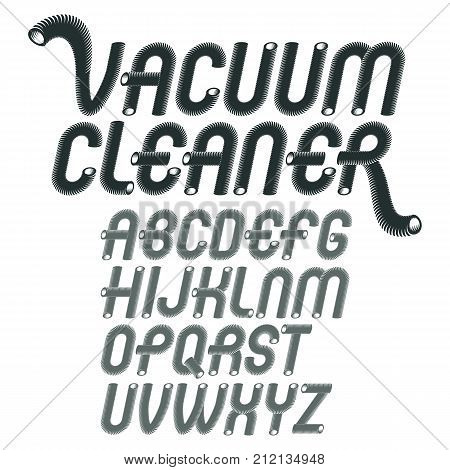 Vector Capital Modern Alphabet Letters Set. Trendy Rounded Italic Font, Script From A To Z Can Be Us