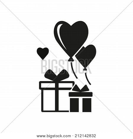 Wedding gifts vector icon. Present box, guests, ceremony. Wedding concept. Can be used for topics like marriage, love, family.