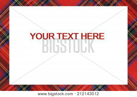 Bordered Frame With Tartan Type Scottish Designs And Text To Wri