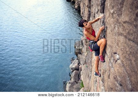 Climber Over The Water