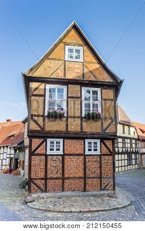 Half-timbered House In The Historic Center Of Quedlinburg