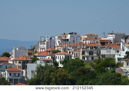 Beautiful Greek Island Skiathos very popular for vacation