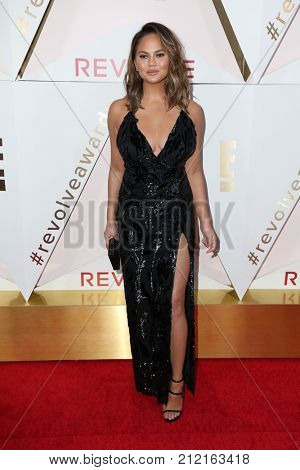 LOS ANGELES - NOV 2:  Chrissy Teigen at the 2017 Revolve Awards at the Dream Hotel Hollywood on November 2, 2017 in Los Angeles, CA
