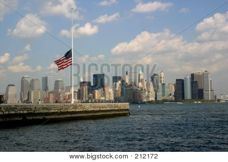 Flag At Manhattan
