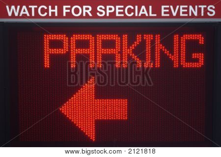 Pi0Digital Parking Sign