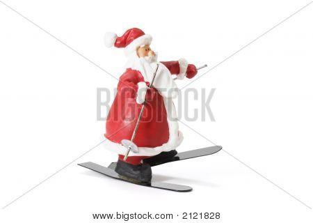 Sking Santa Figure