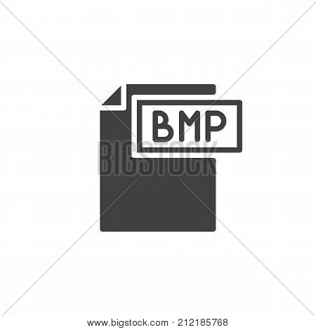 Bmp format document icon vector, filled flat sign, solid pictogram isolated on white. File formats symbol, logo illustration.