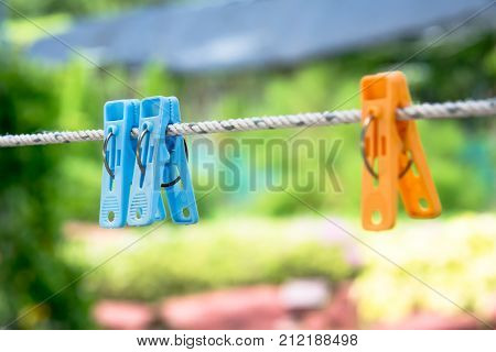 Cloth Clamp Plastic Cloth Clamp Hanging On Rope