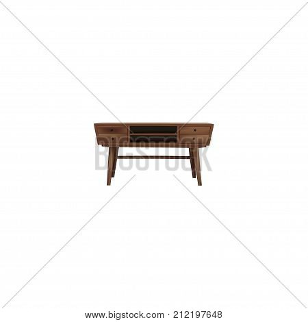 Realistic Commode Element. Vector Illustration Of Realistic Console Isolated On Clean Background