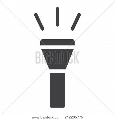 Flashlight glyph icon, web and mobile, torch sign vector graphics, a solid pattern on a white background, eps 10.