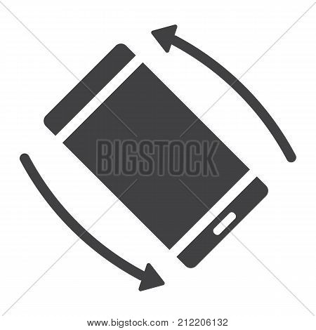 Rotate Smartphone glyph icon, web and mobile, screen rotate sign vector graphics, a solid pattern on a white background, eps 10.