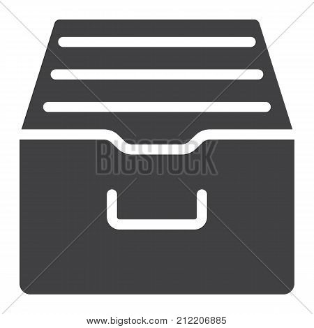 Archive storage glyph icon, web and mobile, data box sign vector graphics, a solid pattern on a white background, eps 10.