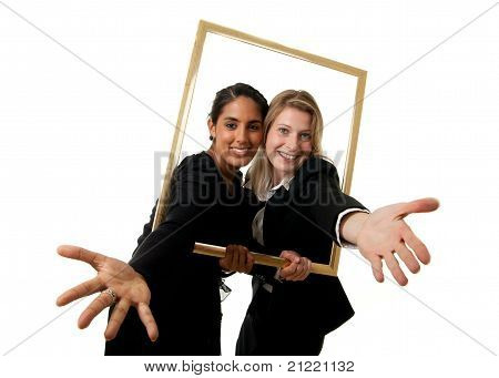 Two Businesswomen Pictureframe