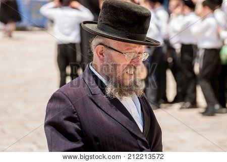 Orthodox Jewish Man Near The Western Wall. .jerusalem. Israel