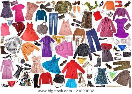 clothes - fashion background