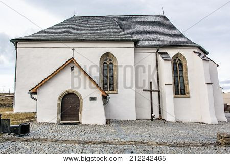 Roman catholic church of St. Anna Strazky Slovak republic. Religious architecture. Travel destination.