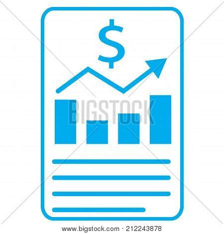 financial report icon on white background. financial report sign. flat style.
