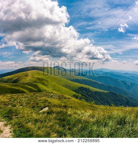 Gorgeous Cloudscape Over Stunning Landscape