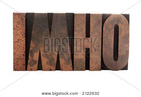 Imho In Letterpress Wood