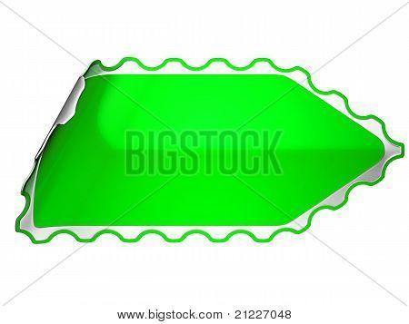 Green Jagged Sticker Or Label