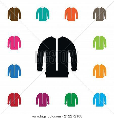 Turtleneck Vector Element Can Be Used For Sweatshirt, Cloth, Jacket Design Concept.  Isolated Sweatshirt Icon.