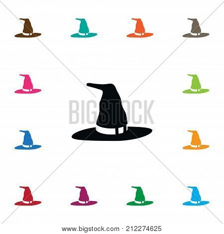 Wizard Vector Element Can Be Used For Wizard, Witch, Hat Design Concept.  Isolated Witch Icon.