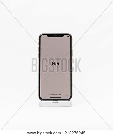 Apple Iphone X Isolated White Background Hello