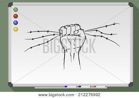 Clenched Fist, Resistance And Revolution Symbol